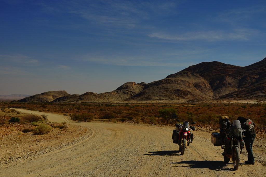 ナミブ砂漠の帰り道