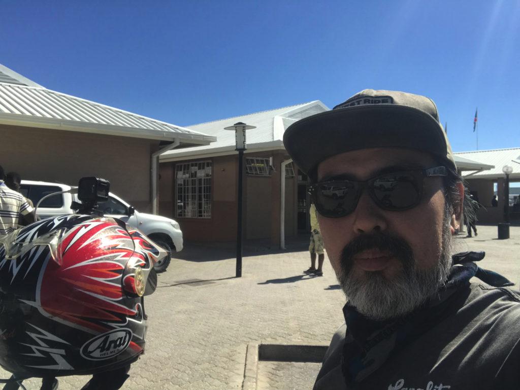 ナミビア側のイミグレ前