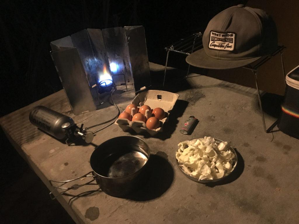 晩飯もSOTOで調理