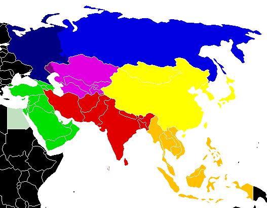 北アジア地図