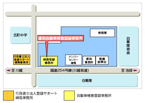 練馬陸運局平面図