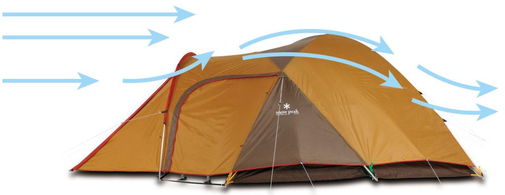 ソロキャンプテント風に強いアメニティードームS