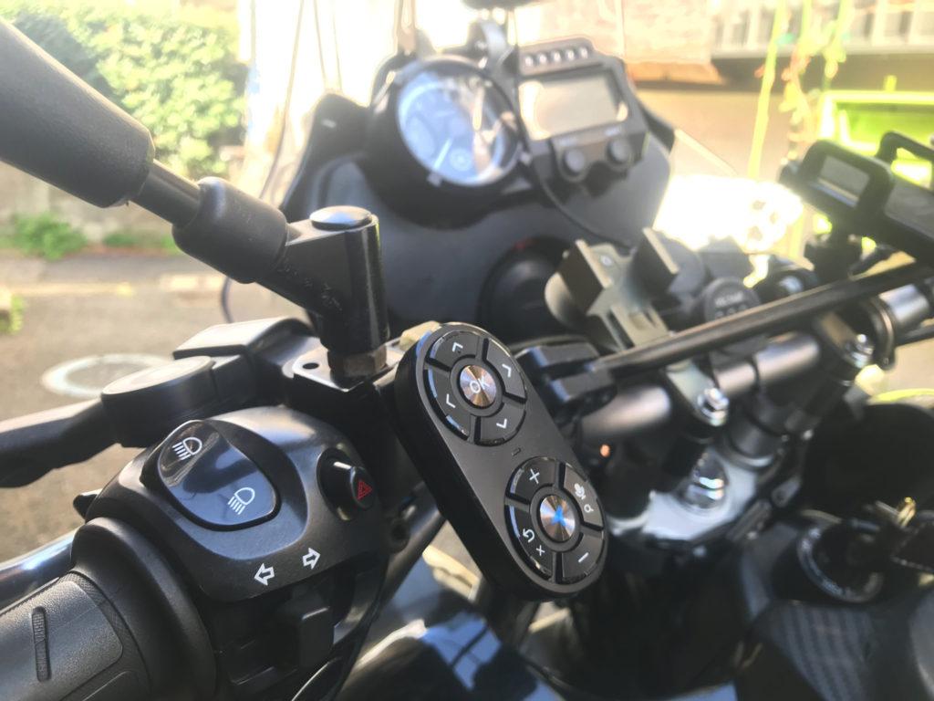 ヤフーカーナビ専用リモコンをバイクへ装着