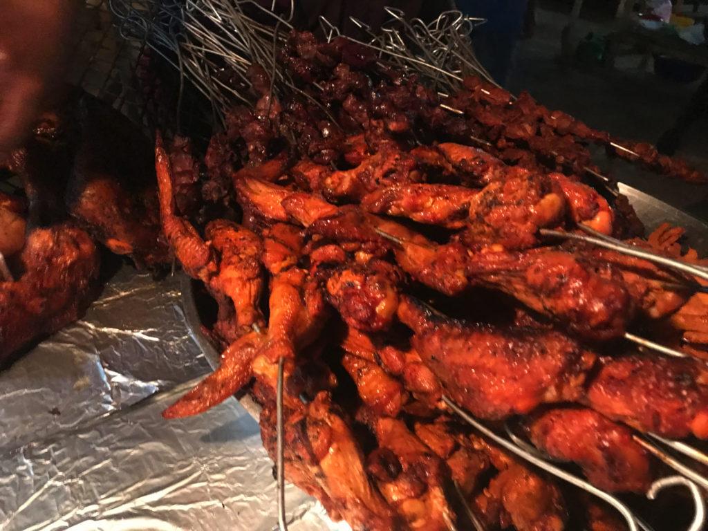焼きたての肉は美味い