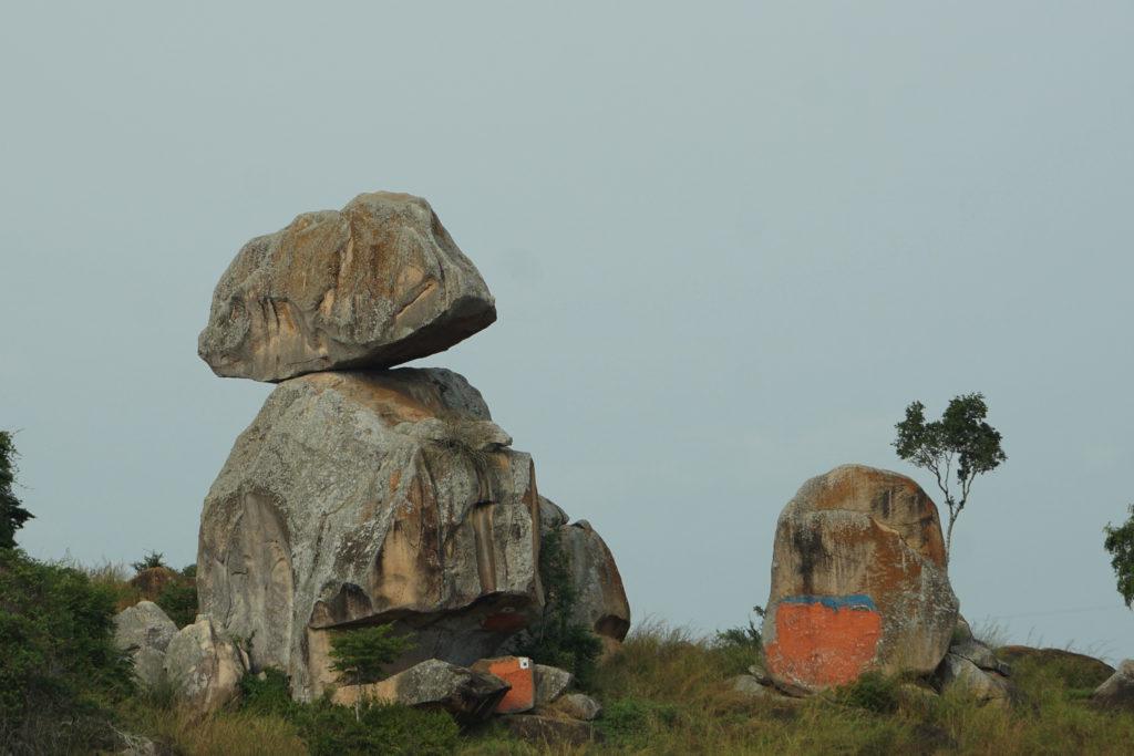 二枚岩を拡大した