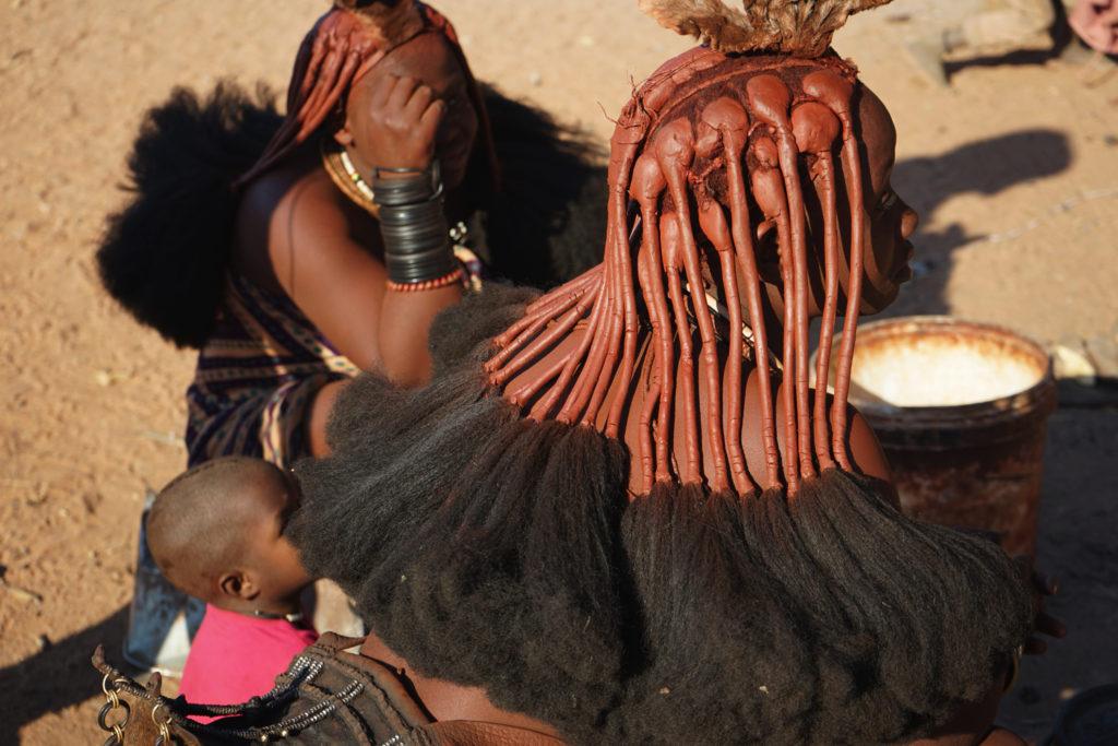 ヒンバ族の髪型