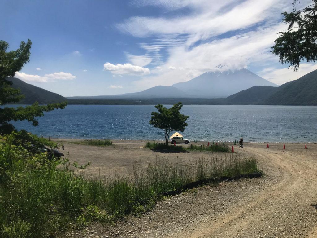 浩庵キャンプ場 絶景の富士山が見える