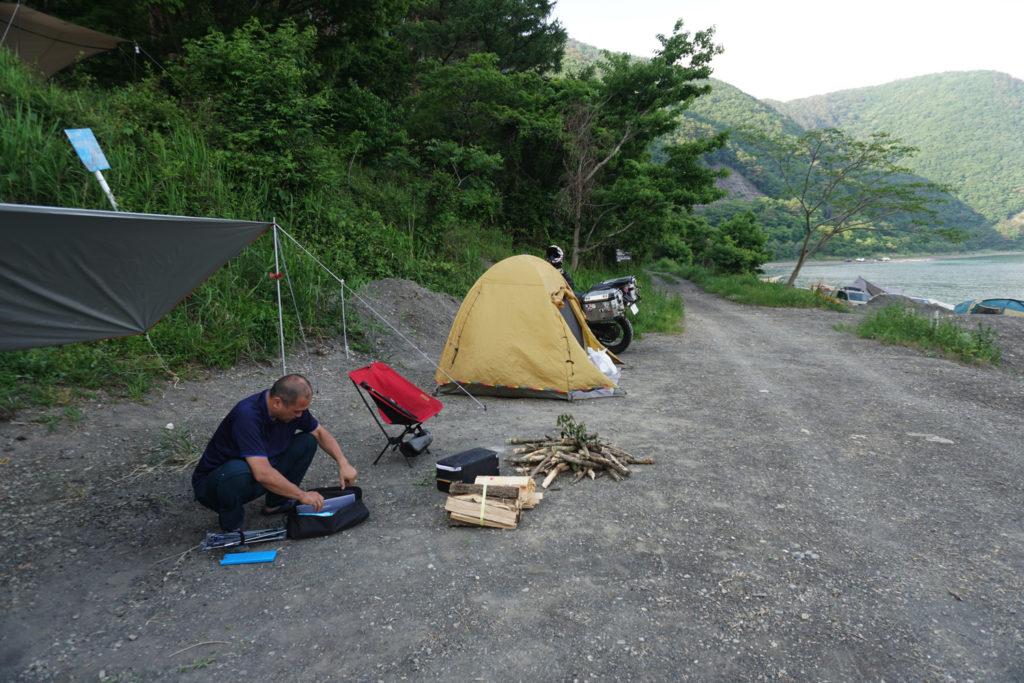 浩庵キャンプ場 湖畔サイト