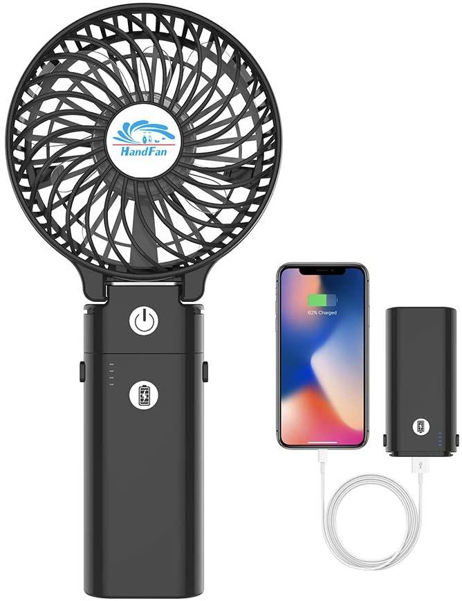 HandFan(ブラックモデル)ポータブル扇風機