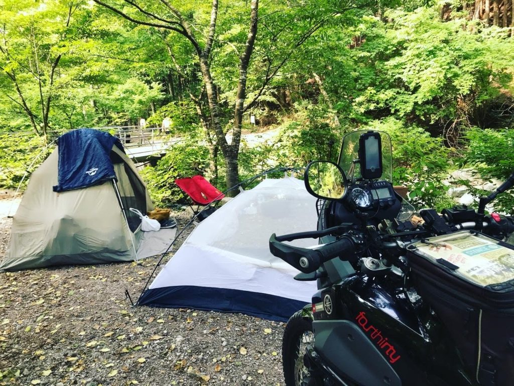 道志の森キャンプ場バイク乗り入れ可能