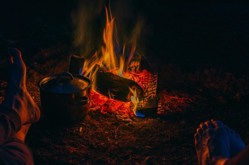 焚火シーズン到来